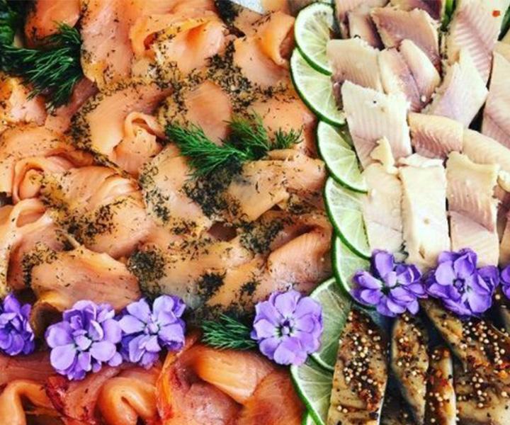 Catering – Tablett mit Fisch